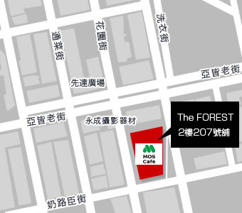 旺角The FOREST店 MAP